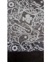 FUNK'N'SOUL Šátek Funk´N´Soul O-13-028 black flower