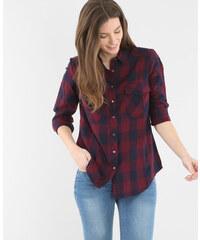 Chemise à carreaux rouge foncé, Femme, Taille L -PIMKIE- MODE FEMME