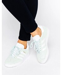 adidas Originals - Gazelle - Baskets en daim - Vert menthe - Gris
