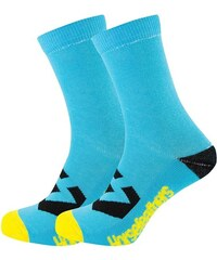 Ponožky Horsefeathers Loby Crew blue 5-7