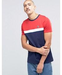 Fila Vintage - T-shirt rayé sur la poitrine - Bleu marine