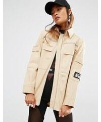 Shade London - Veste-chemise oversize style militaire - Crème