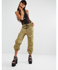 Shade London - Pantalon de survêtement coordonné style militaire avec poche sur le devant - Vert