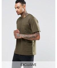Underated - T-shirt avec poches sur le côté - Vert
