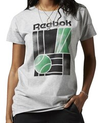 Tričko Reebok F Court Classic Gr Long Tee medium grey heather M