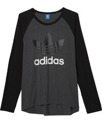 Tričko Adidas Adi Trefoil Ls dark grey heather M