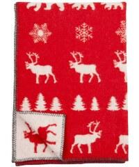 Klippan, Švédsko Vlněná dětská deka Wilderness red 90 x 130 cm Červená