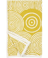 Klippan, Švédsko Bavlněná dětská deka chenille Vinyl yellow 90 x 140 cm Žlutá