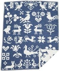 Klippan, Švédsko Dětská deka Buddies blue 70 x 90 cm Modrá