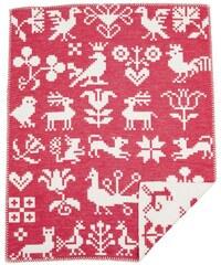 Klippan, Švédsko Dětská deka Buddies red 70 x 90 cm Červená