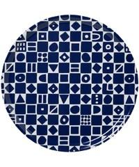 Klippan, Švédsko Tác kulatý velký Mosaic blue Ø 46 cm Modrá