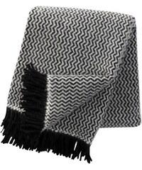 Klippan, Švédsko Vlněný pléd Tango black 130 x 200 cm Černá