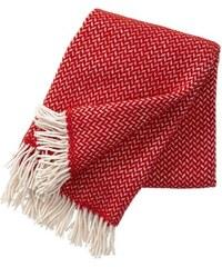 Klippan, Švédsko Vlněný pléd Polka red 130 x 200 cm Červená