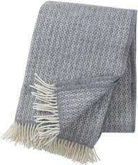 Klippan, Švédsko Vlněný přehoz Rumba light grey 130 x 200 cm Světle šedá