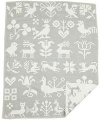 Klippan, Švédsko Dětská deka Buddies grey 70 x 90 cm Šedá