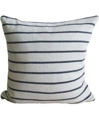 Funky Doris, Norsko Bavlněný pletený povlak na polštář Herman 48 x 48 cm Světle šedá