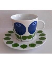 Floryd, Švédsko Porcelánový hrnek s talířkem Blueberry Hrnek výška 7 cm, podšálek Ø 14,5 cm