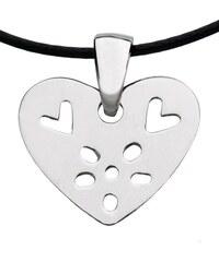 Bengt & Lotta, Švédsko Přívěsek Flower Heart silver 911871 Stříbro