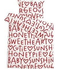 Klippan, Švédsko Dětské povlečení Sweetheart 100 x 130 cm, 55 x 38 cm