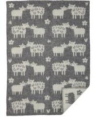 Klippan, Švédsko Vlněná dětská deka Baa grey 65 x 90 cm Šedá