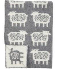 Klippan, Švédsko Vlněná dětská deka Sheep grey 90 x 130 cm Šedá