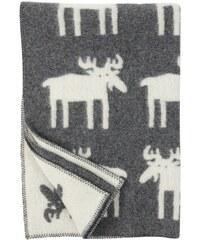 Klippan, Švédsko Vlněná dětská deka Moose 90 x 130 cm Šedá
