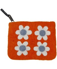 Klippan, Švédsko Peněženka Flower Power orange 14 x 10 cm Oranžová