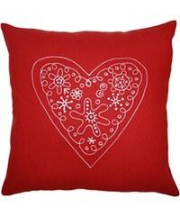 Klippan, Švédsko Polštář Heart 45 x 45 cm Červená