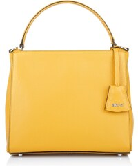 Abro Sacs portés main, Adria Tophandle Calf Leather Yellow en jaune