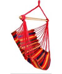 Závěsné houpací brazilské křeslo Relaxia červené - červená