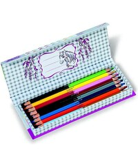 NICI - Oboustranné pastelky koně/16 barev v displeji(38770)