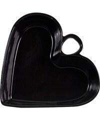 Bastion collections - Zápékací mísa srdce, černá, 30x28x7.5cm (HE-HEART30-BL)