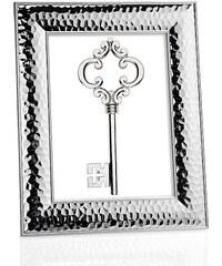 Andrea house - Tepaný fotorámeček stříbrný, ocel 13x18cm (AX16164)