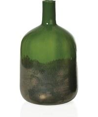 Andrea house - Skleněná váza - láhev, zelená 16x16x28,5cm (CR16195)