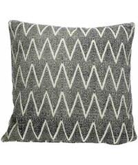 KERSTEN - Polštář černobílý, bavlna/polyester 45x45cm (WER-0644)