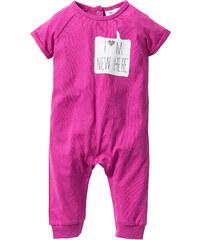bpc bonprix collection Grenouillère bébé en coton bio, T. 56/62-92/98 fuchsia enfant - bonprix