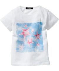 bpc bonprix collection T-shirt avec imprimé appliqué, T. 80/86-128/134 blanc manches courtes enfant - bonprix