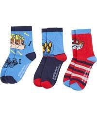 Paw Patrol 3 er Pack Socken blau in Größe 23-26 für Jungen aus 65% Baumwolle 33% Polyester 2% Elasthan