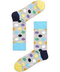 Happy Socks ponožky šedé s puntíky