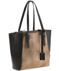 Michèle Boyard Damen Shopper Handtasche schwarz aus Kunstleder