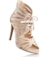 BODYFLIRT Sandalette mit 11 cm High-Heel in beige von bonprix