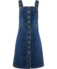 John Baner JEANSWEAR Stretch-Jeans-Kleid ohne Ärmel in blau von bonprix