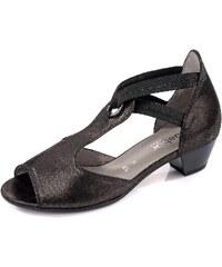 Große Größen: Gabor Comfort Sandalette, schwarz metallic, Gr.37-37
