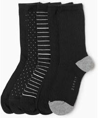 Esprit Sada 5ti ks ponožek s a bez vzoru