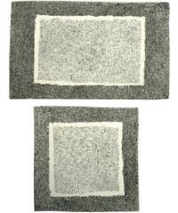 AQUALINE - ATHENA předložka, dvoudílná, 85x50cm, 50x50cm, protiskluz, polyakryl, šedá (AT003)