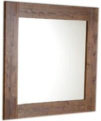 SAPHO - BRAND zrcadlo 800x800x20mm, mořený smrk (BA051)