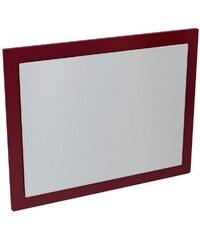 Sapho ERRA - MITRA zrcadlo v rámu 92x72x4cm, bordó (MT183)