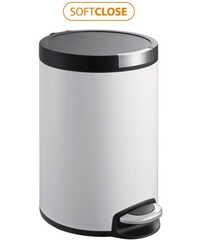 SAPHO - ARTISTIC odpadkový koš 5l, Soft Close, bílá (DR142)