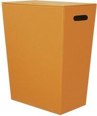 SAPHO - ECO PELLE koš na prádlo 43x48x26cm, oranžová (2462OR)