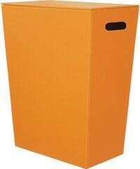 SAPHO - ECO PELLE koš na prádlo 47x30x60cm, oranžová (2463OR)